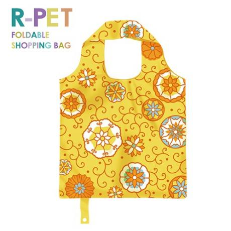 M005-Rolling Annulus - 100% RPET Reusable Shopping Bag, Eco-Friendly Foldable Shopping Bag, Grocery Tote Bags, Shopping Bag Supplier