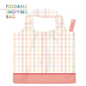 PL008-Pink Striped Lattice - Reusable Grocery Bag, Eco-Friendly Bag, Large Capacity, Waterproof Bag, Heavy Duty Reusable Bags